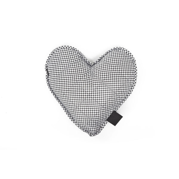 Moon Heart Dog Toy Black-White