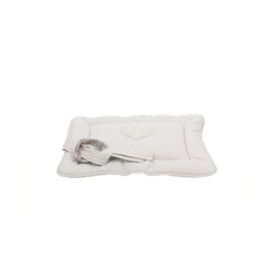 Caramel Small Dog Travel Bed Beige-Offwhite