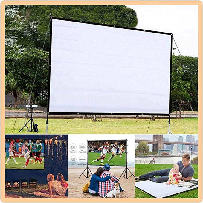 Foldable Anti-Crease Projector Movie Screen