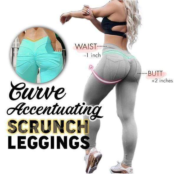 Hip Lifting Curve Accentuating Scrunch Leggings - Allurstyle