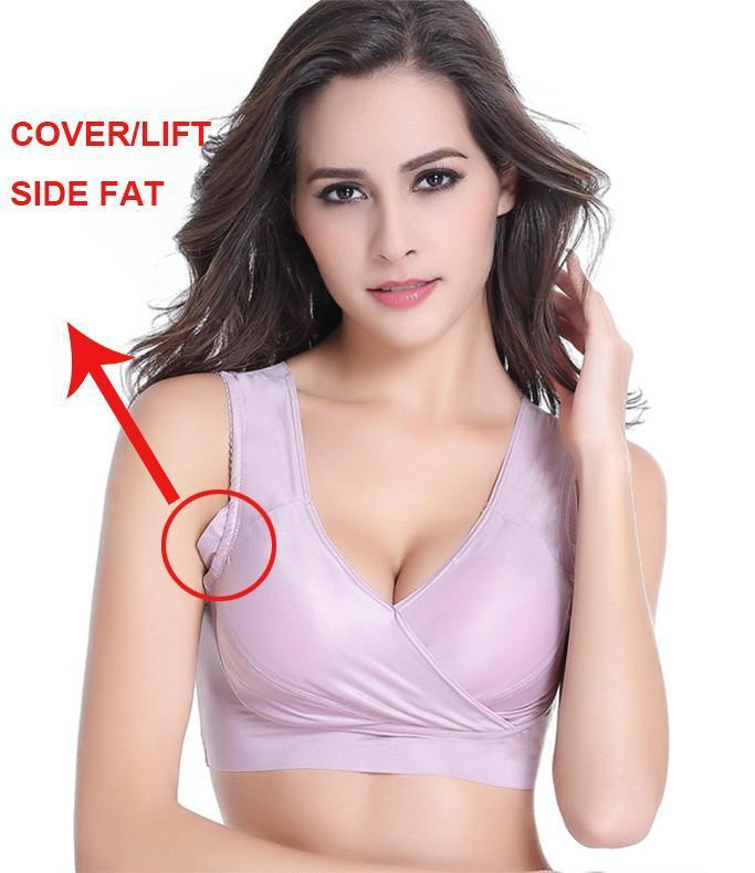 7XL Silk Soft Wireless Sports Sleep Bra Extra Size