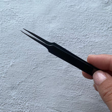 Load image into Gallery viewer, Straight Isolation Tweezer Satin Black Collection