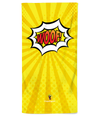 Yellow Pop Art Woof! Beach Towel
