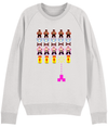 Gay Space invaders Organic Sweatshirt