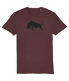 Burgundy Bull Organic Cotton T-Shirt