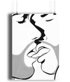 The Kiss Matte Art Print