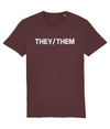 They/Them Pronouns Organic Cotton T-Shirt