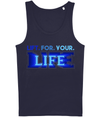 Lift for your Life Blue Sports Top