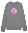 Pink Flash Raglan Organic Sweatshirt