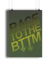 Race to the BTTM Lustre Art Print