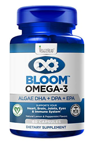 Vegan Omega 3 - Better Than Fish Oil! Plant Based, Algae DHA EPA DPA Supplement. Supports Heart, Brain, Joint, Prenatal & Immune System. No Carrageenan. Natural...