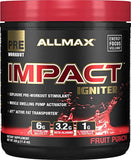 ALLMAX Nutrition Impact Igniter, Pre-Workout Supplement, Fruit Punch, 328g