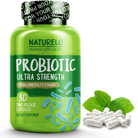 NATURELO Probiotic Supplement - Best for Digestive Health and Immune Support -  30...