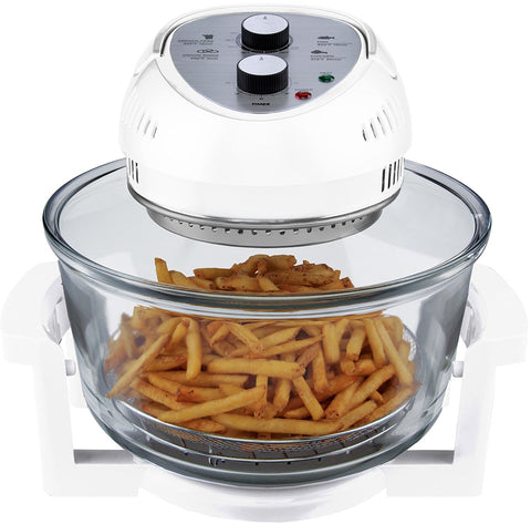 Big Boss 9064 Oil-Less, 16 Quart, 1300W, Easy Operation with Built in Timer Air Fryer M White