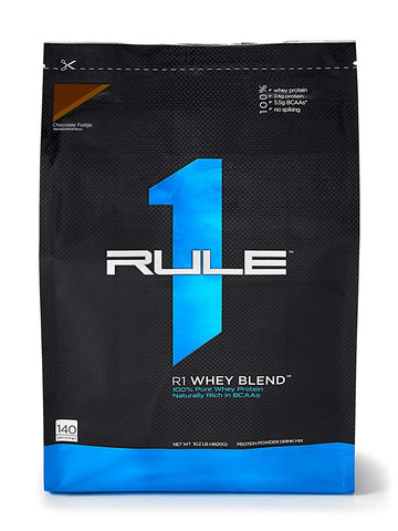 R1 Whey Blend, Rule 1 Proteins (Chocolate Fudge, 70 Servings)
