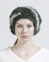 DAPHNE BEANIE- FOREST GREEN/GREY