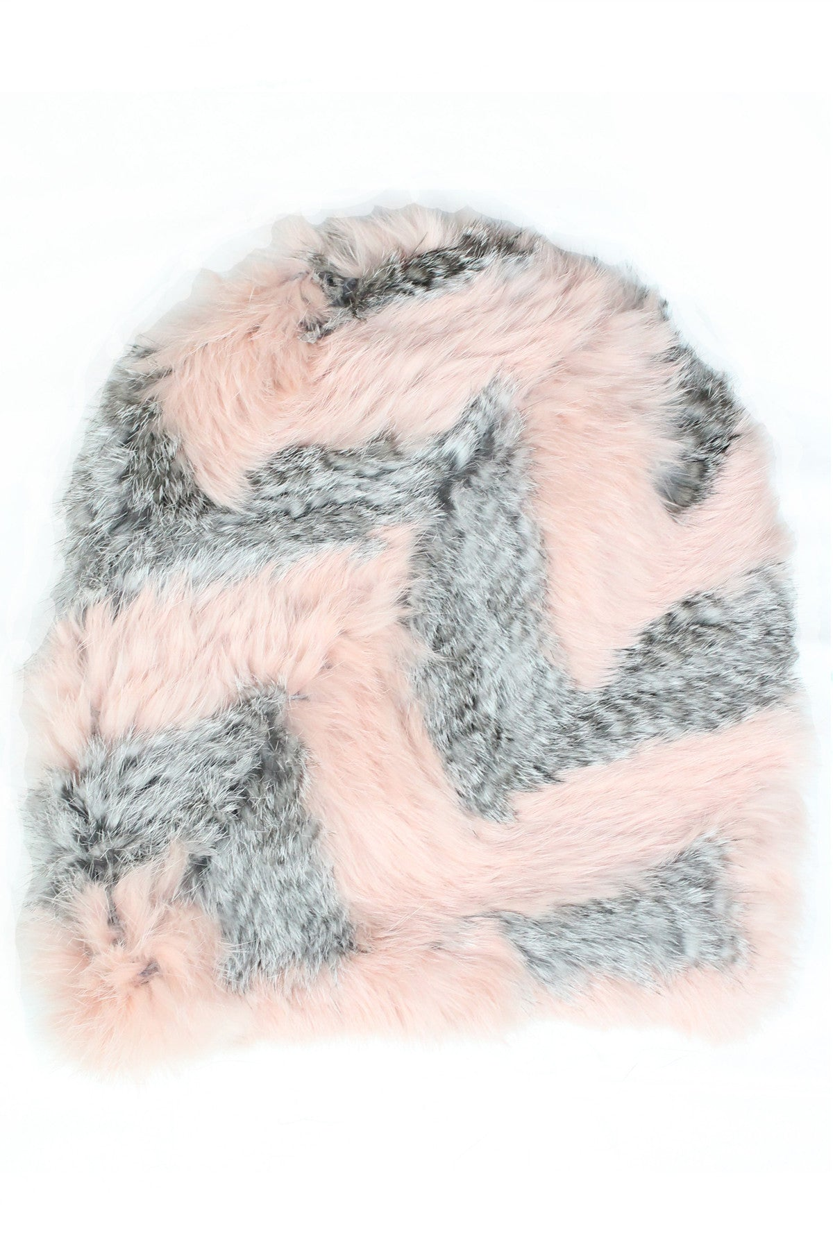 DAPHNE BEANIE- DUSTY PINK/GREY