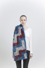 JEFFREY SCARF- BLUE/MAROON/GREY
