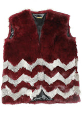 RUPERT VEST- BLOODRED/GREY