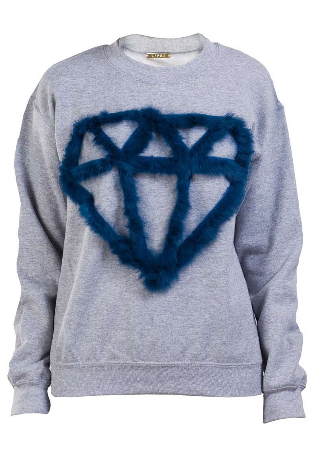 SHINE BRIGHT SWEATSHIRT- GREY/INK BLUE