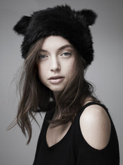 CHELSEA CAT BEANIE-BLACK