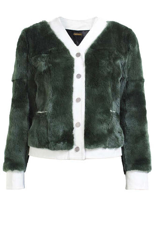 WILFRED JACKET- FOREST GREEN/WHITE