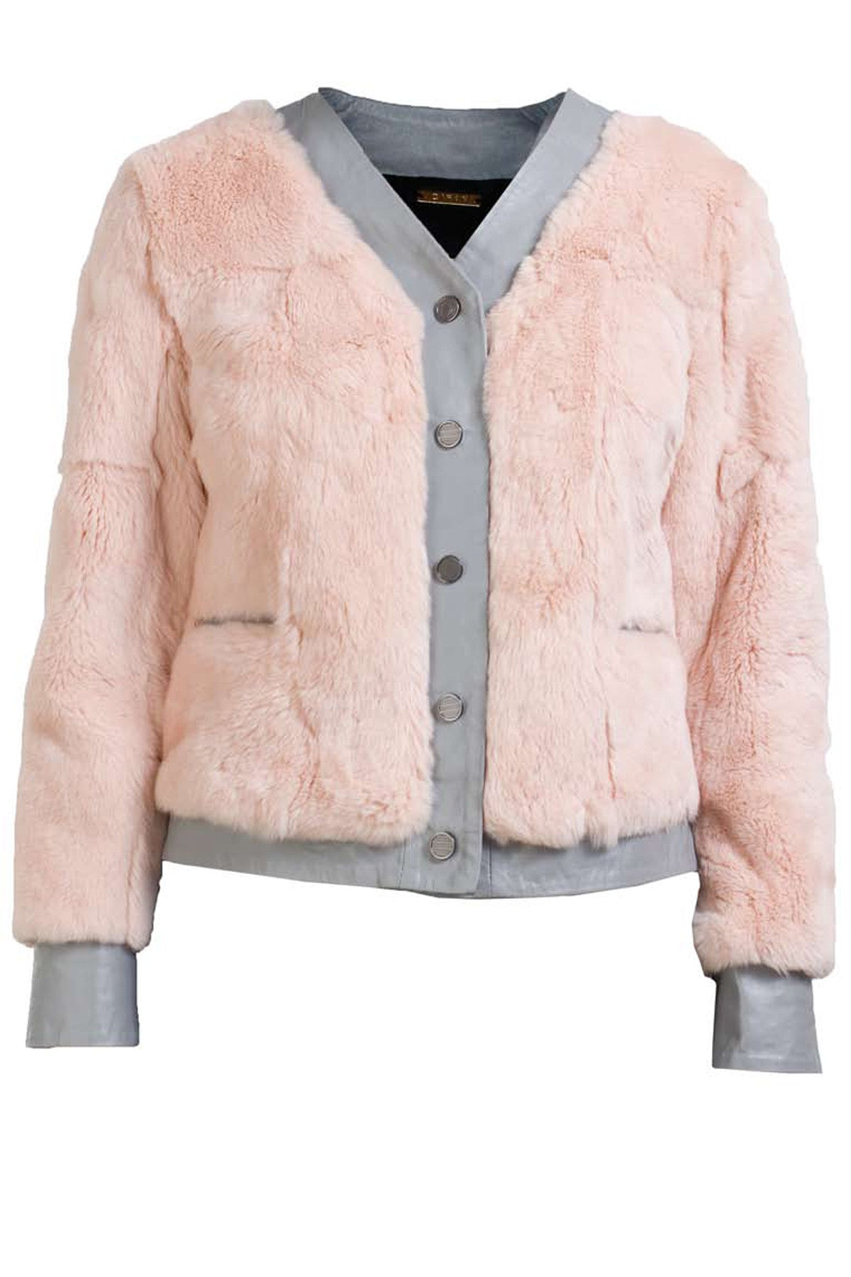 WILFRED JACKET- DUSTY PINK/GREY