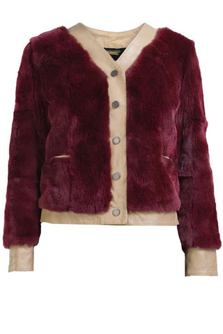 WILFRED JACKET- BLOODRED/TAN