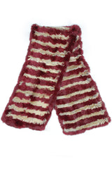 WALDO SCARF-BLOODRED/TAN
