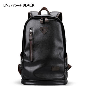 Fashionable Waterproof Leather Bag for Teenagers and Men with USB Charge for Travel