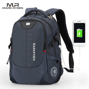 Mark Ryden Fashionable Backpack with USB Charging for Men