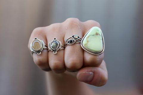rings on fist of fingers