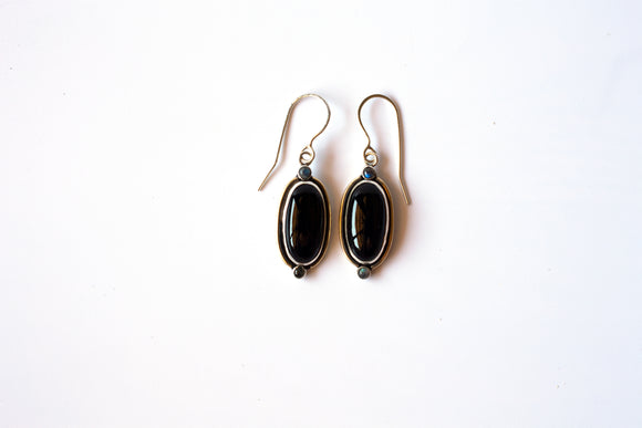 Onyx and Labradorite Spirit Guide Earrings
