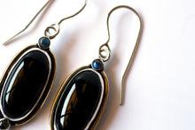 Load image into Gallery viewer, Onyx and Labradorite Spirit Guide Earrings