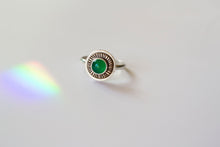 Load image into Gallery viewer, Green Onyx Mithras Ring- size 7