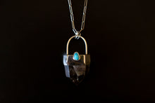 Load image into Gallery viewer, Kingman Turquoise Heart Protector Necklace