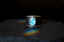 Load image into Gallery viewer, White Water Turquoise Statement Ring