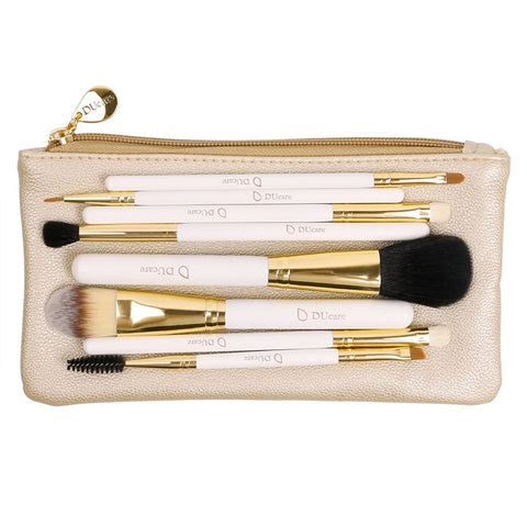 8PC Makeup Brush set + Travel bag