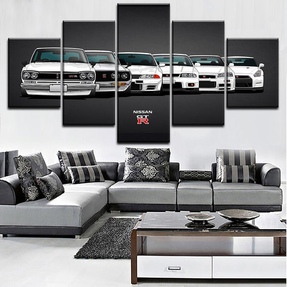 Nissan Models Canvas Wall Art