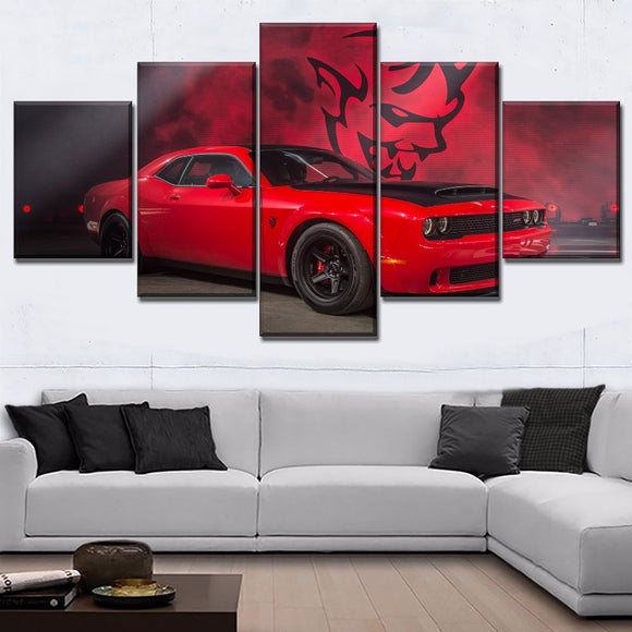 Dodge Challenger Demon Canvas Wall Art