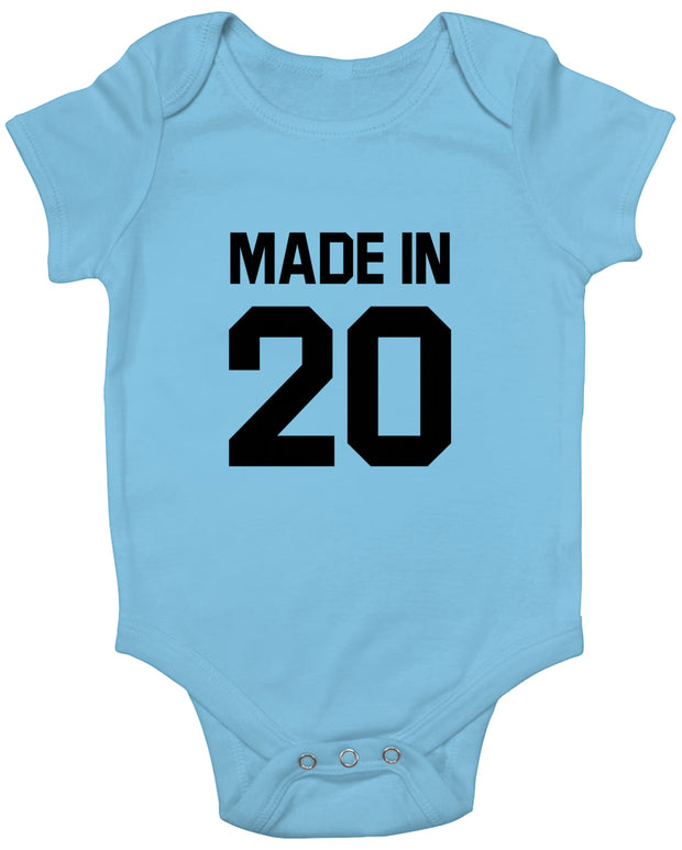 Made In (Year) Black Baby Romper