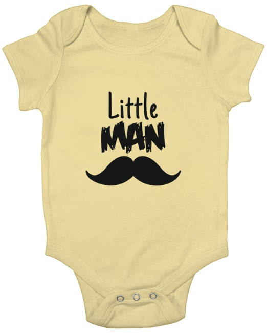 Little Man Baby Romper Black