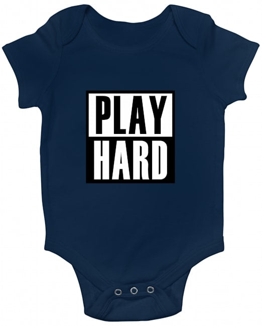 Play Hard Baby Romper White