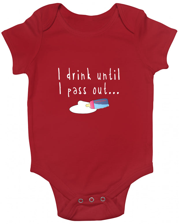 I Drink Until I Pass Out Baby Romper