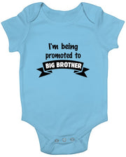 I'm Being Promoted To Big Brother Baby Romper Black
