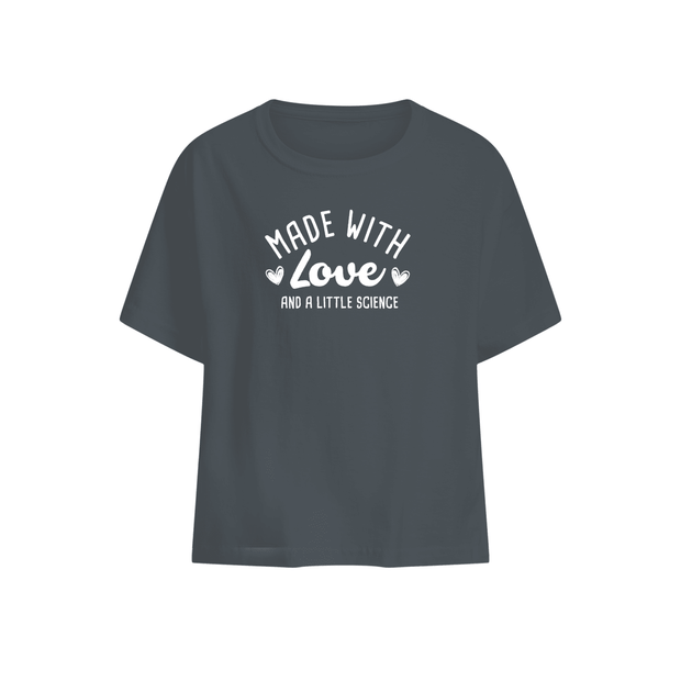 Made With Love And A Little Science Baby T-shirt White
