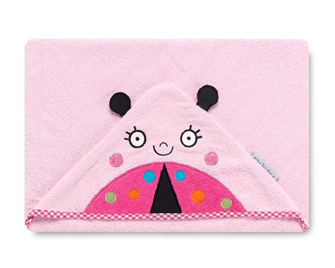 Pink Ladybug  <br>Hooded Towel - Mooney's