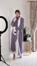 The Habiba | White Slip Included Open/Closed Abaya