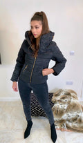 The Black Quilted Padded Puffer Jacket