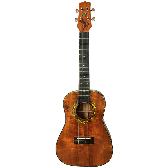 SOLD Island Ukulele Tenor Custom Curly Koa